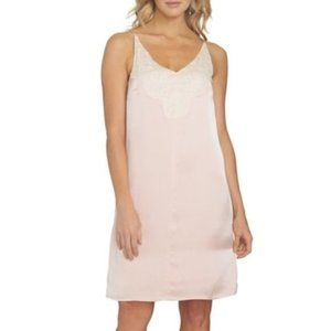NWT 1.STATE Lace Detail Shift Dress rosy flush